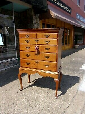 Outstanding Maple Chest on Frame 18th Century