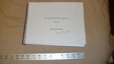 sheet music: 64 Duets for two horns, opus 132 by Richard Burdick used, signed by