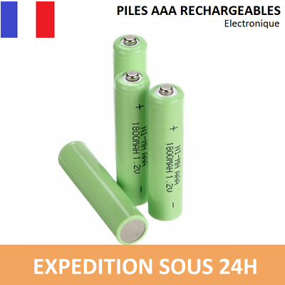 Lot piles rechargeables BATTERIES ACCU LR03 AAA 1800 mAh Neuves accus NiMH Ni-MH