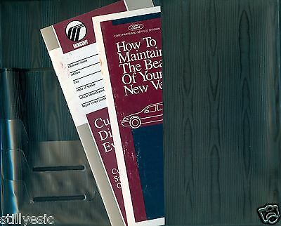 1993 Mercury Topaz Owners Manual In Oem Factory Case --Very Nice Condition