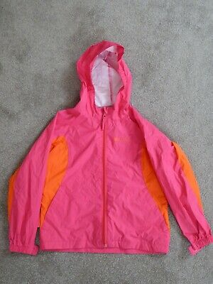 Mountain Warehouse lightweight girls waterproof jacket age 7-8