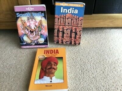 3 Indian Travel Books by Lonely Planet & Nelles Guide- Possible Collectors Item