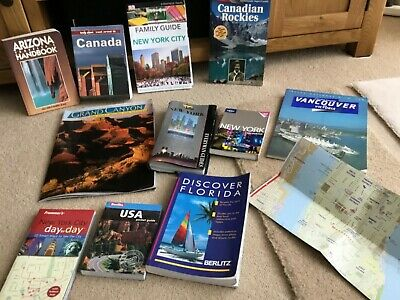 11 North American & Canadian Travel Books Maps - in great condition