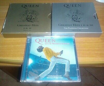 queen cd lotto lot greatest hits wembley freddie mercury may taylor deacon 6 cds