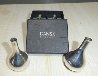 """DANSK DESIGN Pair of """"Onion"""" Candleholders. 1960s. Silver Plated."""