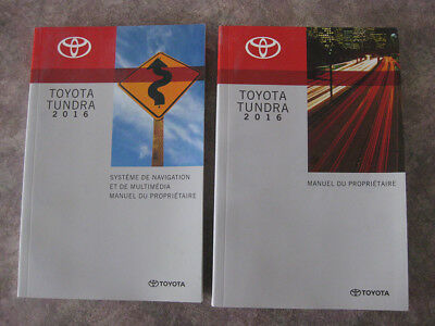 Toyota Tundra 2016 - Guide utilisateur & System navigation FRENCH - Near MINT