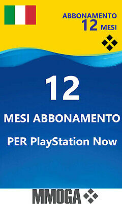 PLAYSTATION NOW Abbonamento 12 Mesi - PS4 Download Codice - Italiano Conto
