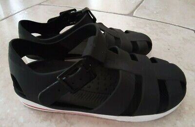 River Island Young Boys Black Jellies Sandals Shoes Size 11 Eu 29 New