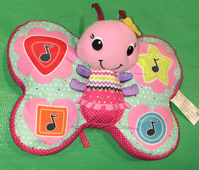"""Infantino Touchtone Pink Musical Butterfly Soft Toy 10"""" Hangable"""