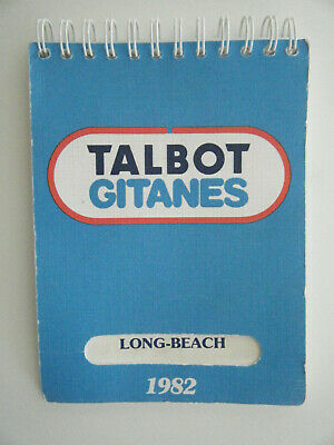 Talbot Ligier Gitanes Matra JS 17 Long Beach 1982 Note Pad info used look