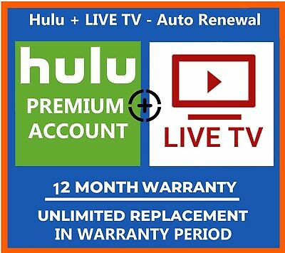 😲 Hulu Premium Account + 😲 LIVE TV  ✅1 Year Warranty ✅fast delivery