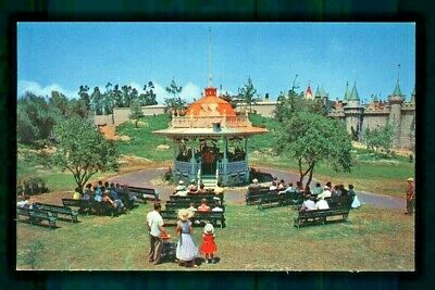 Postcard Disneyland Bandstand Plays as Guests Relax to Their Favorites Tunes. B2