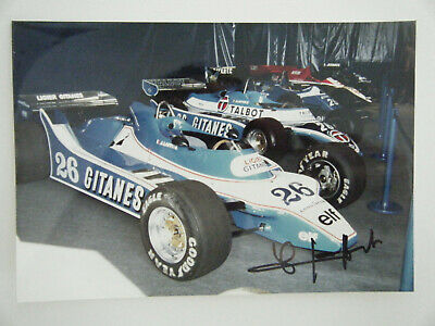 Jacques Laffite - Ligier Gitanes Ford JS 11/15 exhibition show Ligier signed