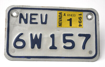 1994 Nevada Motorcycle License Plate