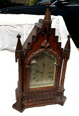 Large Gothic Revival Bracket/Mantle Clock