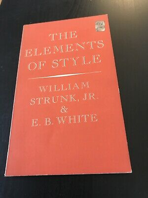 The Elements of Style, Strunk and White, 1959 Edition, 2nd Printing, PB