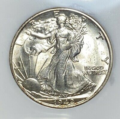 1942-S Walking Liberty 50C Half Dollar NGC MS 64 CAC Approved!