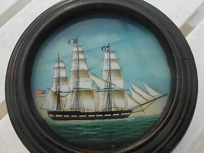 Vintage Nautical Painting of a Ship Trinket Box