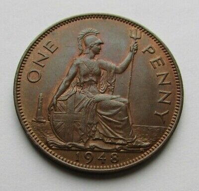 Great Britain 1948 penny, high grade beautiful coin..