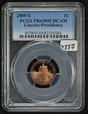 2009-S 1c LINCOLN PRESIDENCY SMALL CENT, RAINBOW TONE *PCGS PR69 RED DCAM* #Y337