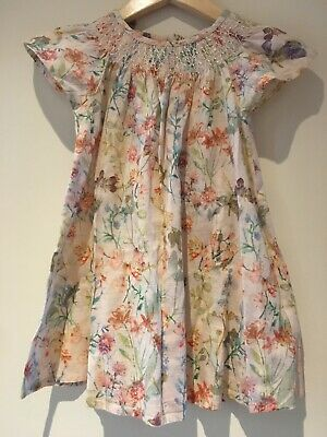 Next Floral A Line Dress Toddler Girl Baby Kids 1.5-2 Years Cotton