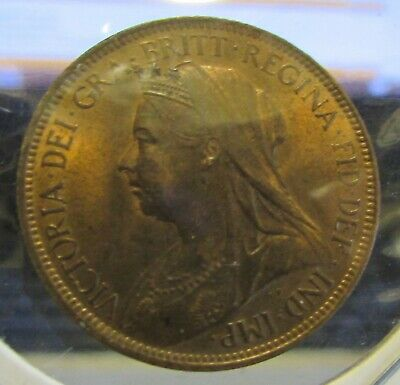 Great Britain 1900 VICTORIAN HALF-PENNY, BU...