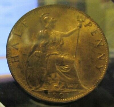 Great Britain 1901 VICTORIAN HALF-PENNY, BU...