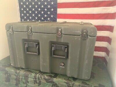 Pelican Hardigg Military Footlocker WITH WHEELS Transport Storage Case