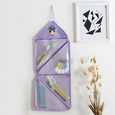 Clear Portable Wall Storage Bag Travel Foldable Zipper Sundries Hanging Bag IT
