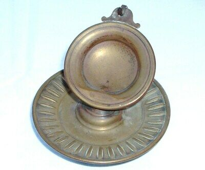 Rare Antique 19th Century English Brass Pocket Watch Travelling Stand NO RESERVE