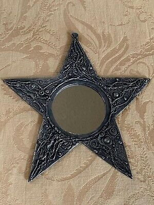 Don Drumm Signed Pewter Mirror Star Shaped