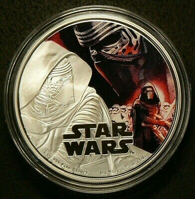 2016 $2 Dollars Star Wars Kylo Ren with COA Silver 99.9% #6827