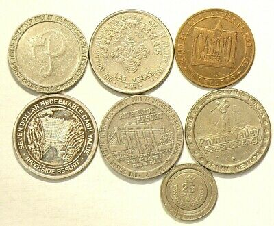 Casino Tokens Lot of 8 Circulated #6802
