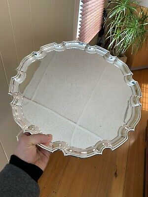 """Tiffany & Co. England Sterling Silver Platter Large 14"""" Serving Plate Dish"""