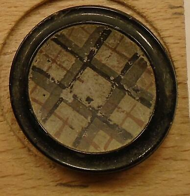 """WOW 15/16"""" Overlay GlassBlack Antique Button 1:8"""