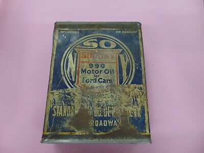 Vintage 1 Gallon Socony Motor Oil Can Very COOL Standard Oil New York Mobil