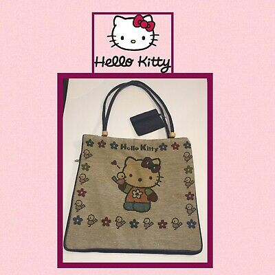 Vintage Hello Kitty Tote Bag With Expandable Bottom And Coin Purse - Handmade?