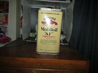 Rare Full Nos Gargoyle Mobiloil :Af: Sae No 40 One Gallon Can