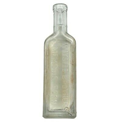 Antique Witsell Brothers Apothecary Bottle Memphis TN Clear Glass Medicine Vtg