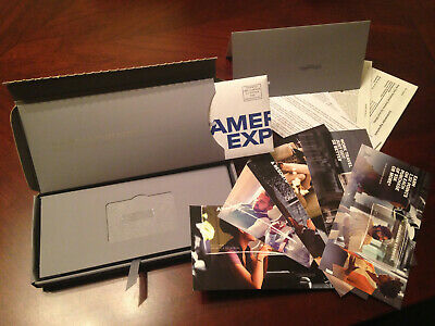 Business American Express Platinum Welcome Package Amex Credit Card Kit Box