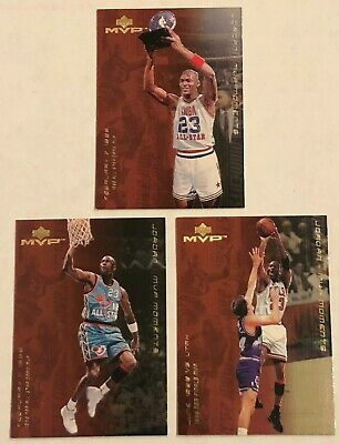 (3) 1999-00 UD MVP Michael Jordan MVP Moments #MJ6 #MJ7 #MJ14 Chicago Bulls Lot