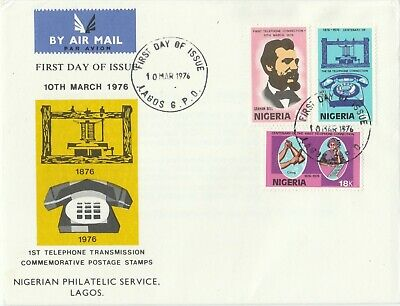 Postage Stamps NIGERIA 1st Day of Issue Cover Centenary of The Telephone 1976