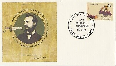 Postage Stamps AUSTRALIA First Day Cover Centenary of The Telephone 1976
