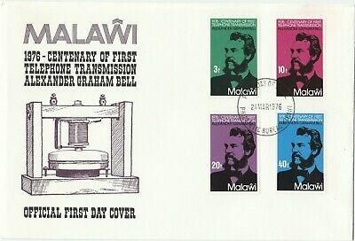 Postage Stamps MALAWI 1st Day of Issue Cover Centenary of The Telephone 1976