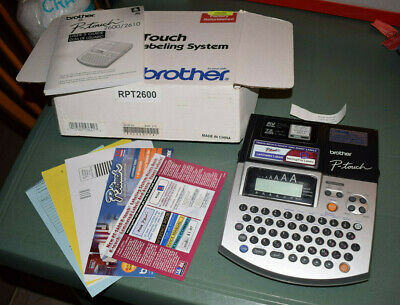 Brother PT-2600 Electronic Labeling System Prints P-Touch