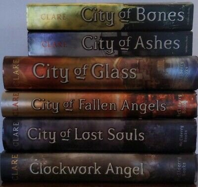 Set of 6 Cassandra Clare The Mortal Instruments Books Free Shipping!