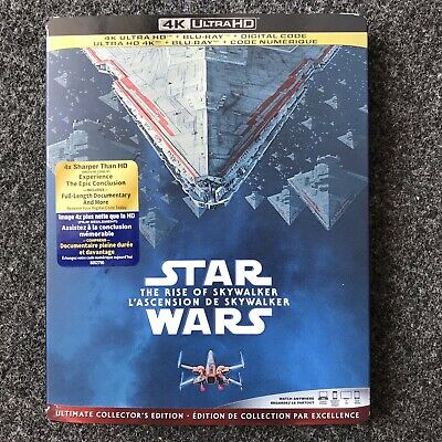 "Star Wars: The Rise Of Skywalker (4K UHD + Blu-ray  + Digital) ""New"" ""Sealed """