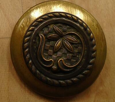 """WOW 1 5/8"""" Flower Rope Border Metal Antique Button 2:4"""