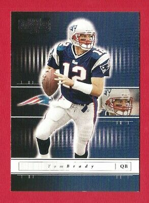 TOM BRADY 2001 Playoff Preferred football card New England Patriots NFL Michigan
