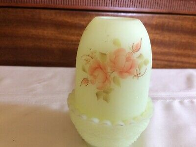 fenton fairy candle light with hand painted flowers